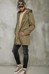 Forever 21 Hooded Cargo Jacket