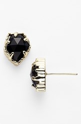 Kendra Scott Women's 'Tessa' Stone Stud Earrings Black Gold