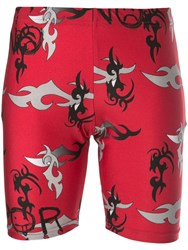 Barbara Bologna Printed Cycling Shorts Red