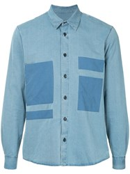 Covert Patch Pocket Chambray Shirt Blue
