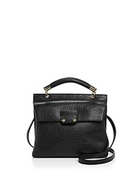 Etienne Aigner Althea Small Leather Satchel Black Gold
