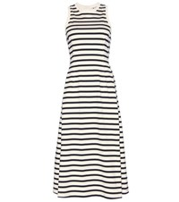 Alexander Wang Striped Cotton Jersey Dress White