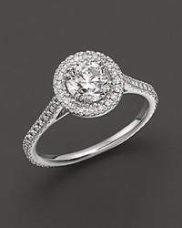 Bloomingdale's Diamond Engagement Ring 18 Kt. White Gold 1.25 Ct. T.W. No Color