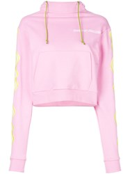 House Of Holland Cropped Hypnotic Sweatshirt Pink And Purple