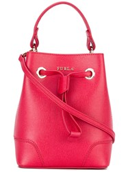 Furla Bucket Tote Women Leather One Size Red