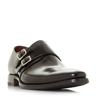 Loake Mercer Double Monk Shoes Black