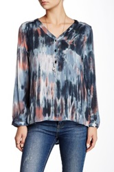 Gypsy05 Hi Lo Silk Blend Blouse Multi