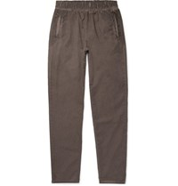 Bottega Veneta Slim Fit Garment Dyed Cotton Trousers Brick