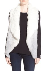 Women's La Fiorentina Ombre Genuine Rabbit Fur Vest Grey Light Grey