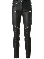 Givenchy Zipped Biker Trousers Black