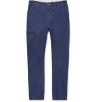 Nonnative Slim Fit Tapered Cotton Blend Ripstop Cargo Trousers Navy