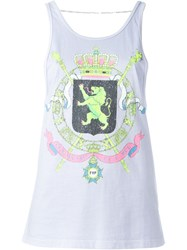 Filles A Papa 'Yoko Blason' Tank Top Pink And Purple
