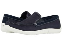 Dockers Alcove Moc Toe Loafer Navy Tumbled Nubuck Shoes