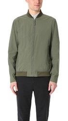 Norse Projects Ryan Crisp Cotton Bomber Jacket Dried Olive