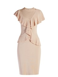 Givenchy Cross Front Ruffled Dress Light Pink