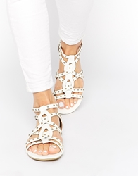 Call It Spring Huntar Flat Sandals White