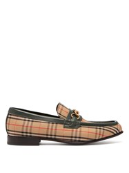 Burberry Moorely Dalston Vintage Check Canvas Loafers Green