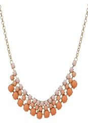 Anna Field Necklace Gold Coloured Apricot