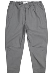 Oamc Isle Grey Cotton Shell Trousers