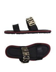 Moschino Footwear Sandals Men Black
