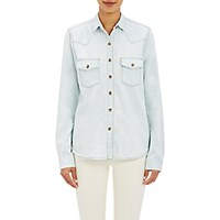 J Brand Women's Denim Western Style Shirt Dark Grey