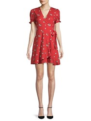 Lea And Viola Floral Wrap Dress Red Floral