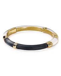 Alexis Bittar Lucite Color Block Hinge Bangle Black Clear