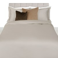 Amara 500 Thread Count Sateen Duvet Cover Taupe Brown