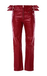 Isabel Marant Red Bonnya Slim Fit Trousers