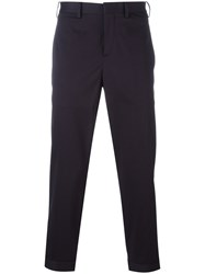Neil Barrett Cropped Trousers Blue