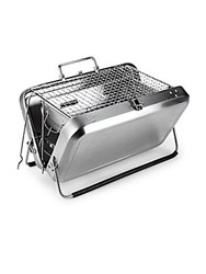 Kikkerland Portable Stainless Steel Barbeque Grill Briefcase No Color