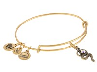 Alex And Ani Snake With Crystal Rafaelian Gold Bracelet