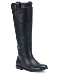 Frye Paige Leather Riding Boots Black