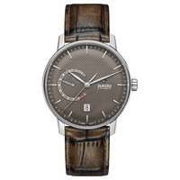 Rado R22878305 Unisex Coupole Automatic Date Leather Strap Watch Brown
