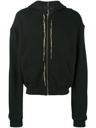 Haider Ackermann Perth Zip Up Hoodie Men Cotton S Black