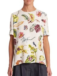 Adam By Adam Lippes Floral Print Top Floral Multi