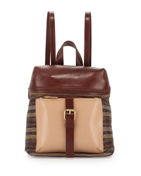 Kelsi Dagger Metro Buckle Combo Backpack Rust Stripe