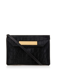 Balenciaga Cable Crocodile Effect Calf Hair Clutch