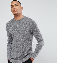Selected Homme Tall Knitted Jumper With High Neck Dark Navy