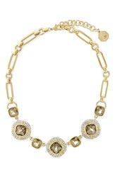 Women's Louise Et Cie Pave Crystal Cluster Necklace