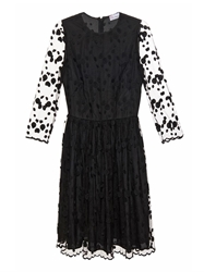 Red Valentino Embroidered Polka Dot Tulle Dress