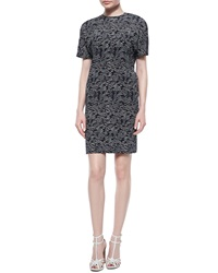 Derek Lam Wave Print Cross Back Dress