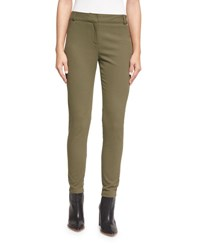 Veronica Beard Blossom Biker Pants Army Green Forest