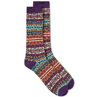 Anonymous Ism Fair Isle Crew Sock Purple