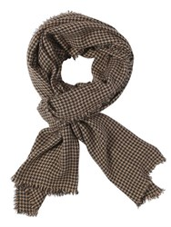 Faliero Sarti Houndstooth Cashmere And Silk Blend Scarf
