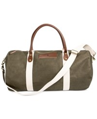 Cathy's Concepts Personalized Green Canvas And Leather Duffle Bag M