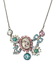 Betsey Johnson Nautical Cameo Cluster Frontal Necklace Multi