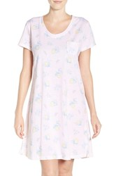 Carole Hochman Women's Print Cotton Sleep Shirt Lemon Toss