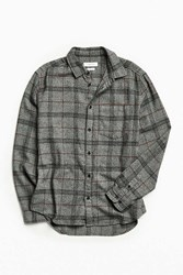 Urban Outfitters Uo Plaid Flannel Button Down Shirt Grey