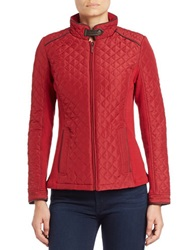 Weatherproof Quilted Jacket Scarlet Red